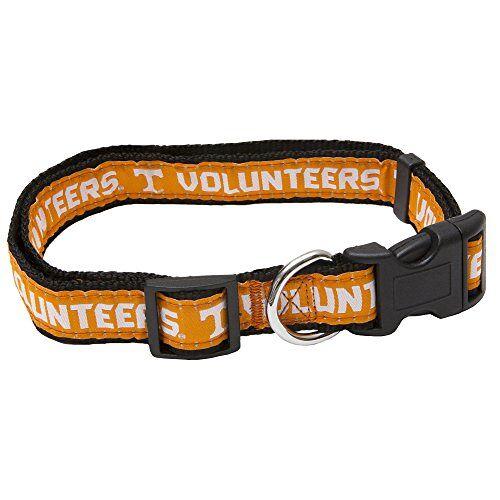 Pets First NCAA Huisdierhalsband 50 Colleges verkrijgbaar in 3 maten robuust, sterk, duurzaam en verstelbaar NCAA hondenhalsband onmisbaar voor de 4-potige sportfan., Tennessee Volunteers, Medium