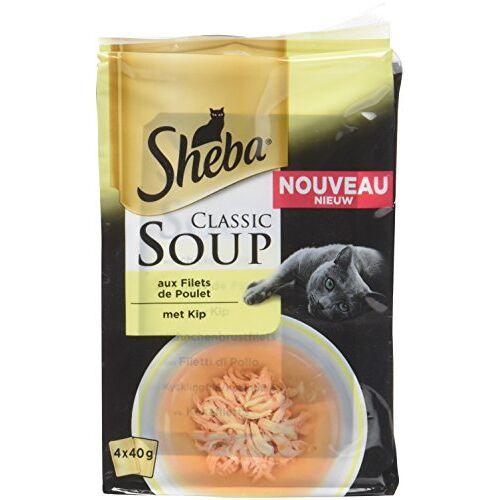 Sheba Set van 12 soepen voor katten, 4 x 40 g, 48 vershoudzakken