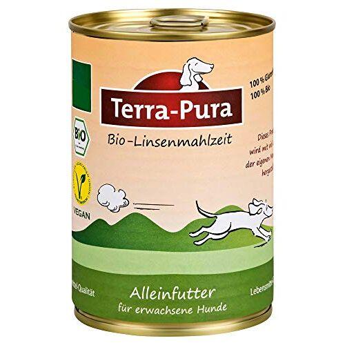 Terra Pura biologisch hondenvoer linzenmeel 350 g, 12-pack (12 x 350 g)
