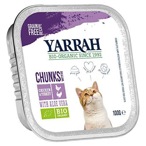 Yarrah Chicken Chicken Turkey 100g Biologisch kattenvoer, 16 stuks (16 x 0,1 kg)