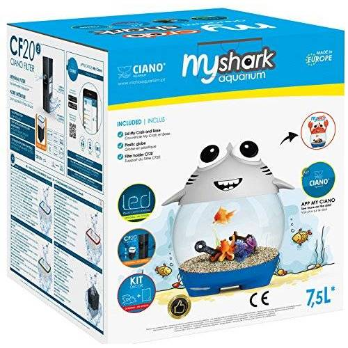 CIANO Aquarium My Aquarium Shark voor aquarium grijs