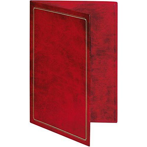 RNK - Verlag RNK 2831 certificaat van gemarmerd kunststof met goudprint, 22,7 x 31,5 cm, wijnrood