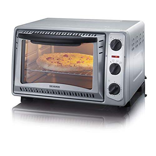 Severin to 2045 bak- en toaststoffen, 43 cm, veelzijdig inzetbaar voor de bereiding van pizza, frietjes, braden of ovens, voor het bakken van taarten / zilver