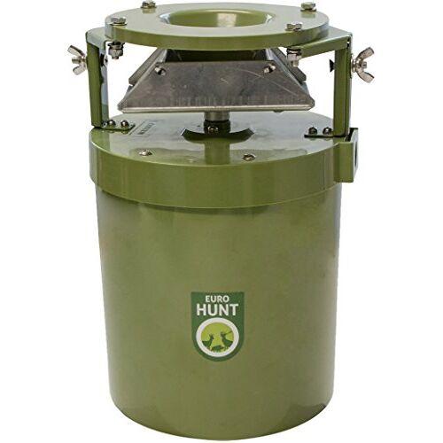 EUROHUNT Voerautomaat Light 12V, automaat voor diervoeder, weerbestendig, wildvoederautomaat, 17 x 17 x 27 cm, groen