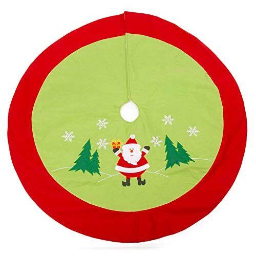 small foot 11387 kerstboomdeken Santa, van vilt, boomdecoratie, meerkleurig, normaal