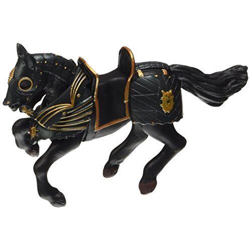 Papo 39276 zwart paard met uitrusting, spel