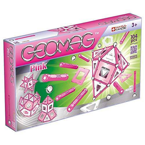 Geomag Panels constructiespeelgoed 104 Stuk roze