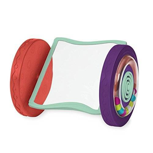 B. toys by Battat BX1461Z B. Toys Babyspeelgoed, rollende spiegel, kruipspeelgoed en in buikligging spelen, babyspeelgoed vanaf 0 maanden, PVC- en ftalaatvrij