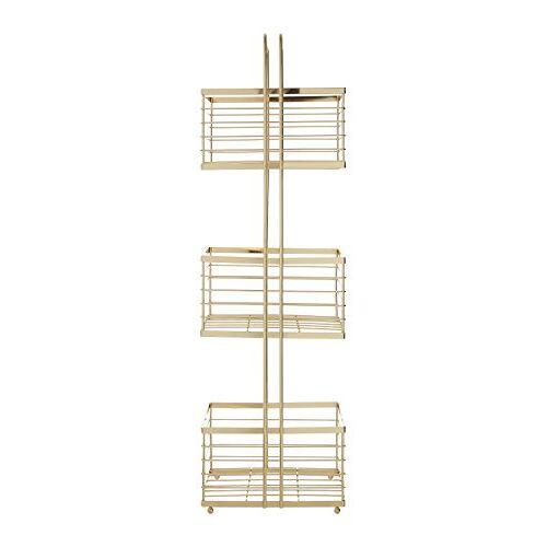 Premier Housewares 3-tier opslag Caddy, goud, 16 x 22 x 73 cm, ijzerdraad, 16x22x73