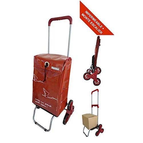 Bo Time Boodschappentrolley, waterdicht, trappenhuis, 6 wielen, telescopische handgreep, capaciteit 44 l
