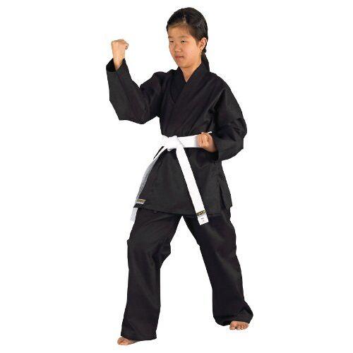 551101130 KWON Kinderen vechtsportpak Karatea Shadow, zwart, 130 cm,