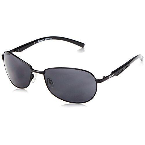 SBM114-131_Schwarz Klassieke merkzonnebril voor heren van Burgmeister met 100% uv-bescherming, zonnebril met stabiele metalen behuizing, hoogwaardig brillenkoker, brillenzakje