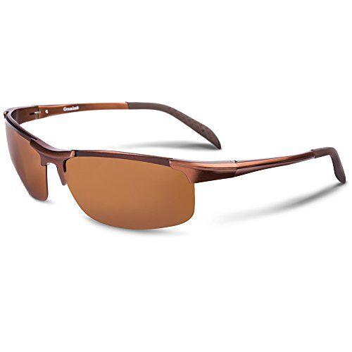 Zonnebril heren dames gepolariseerd met UV 400 bescherming fietsbril gespiegeld racing style incl. brillenetui