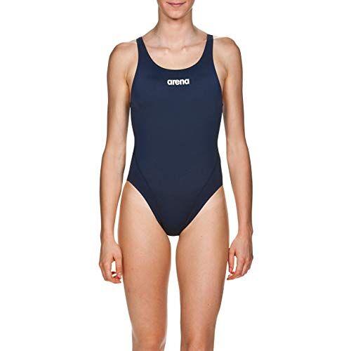 2A241_75_40 ARENA W Solid Swim Tech High zwembroek voor dames, blauw (navy/wit), 38