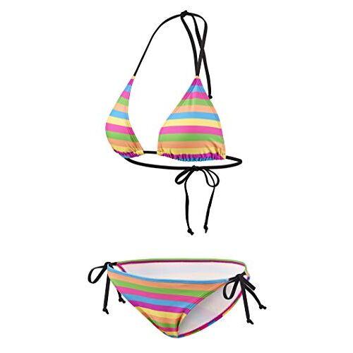 139 BECO Dames Side Tie Triangel B-Cup bikiniset, meerkleurig, 40