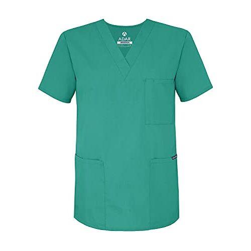601SUGS Adar Universeel Uniseks Schrobben V-Nek Tuniek Schrobben Top 601 Chirurgisch groen S