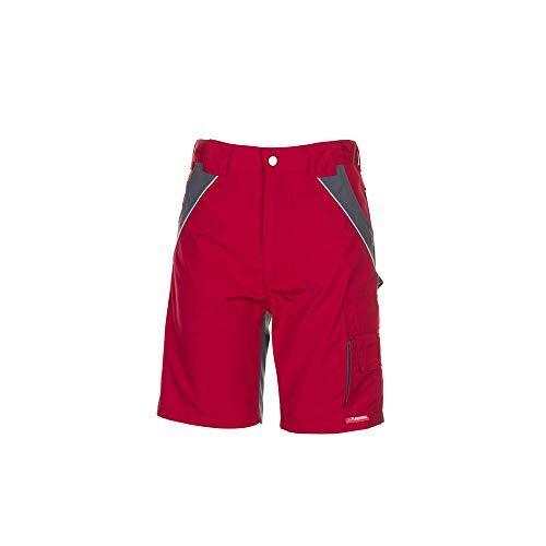 2547056 Planam Werkshorts voor heren rood/leisteen maat: XL