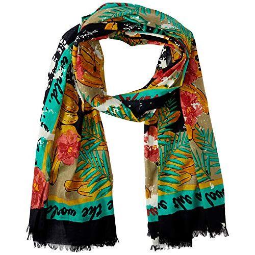 20SAWA308041U-8041 Desigual Dames Foul_Flower Banana sjaal, geel (Amarillo Bombay 8041), één maat (fabrikantmaat: U)