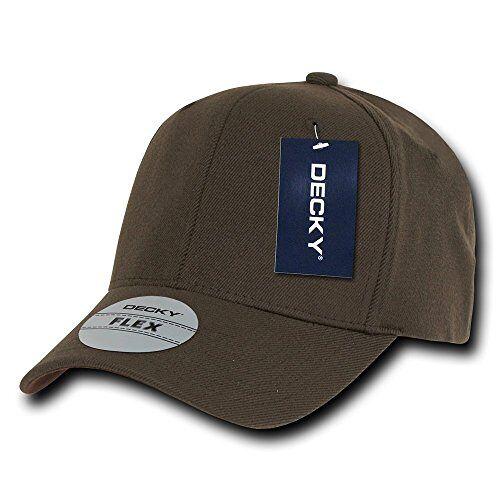 870-PL-BRN-07 Decky heren Decky Fit All Flex Baseballpet, zwart, maat L/XL Fit All Flex