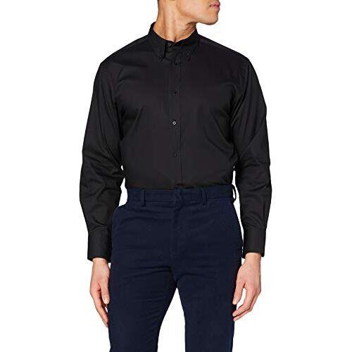 KK188-BLK-16-BLK Kustom Kit Zakelijk shirt voor heren