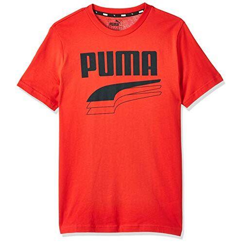 581530 Puma Rebel Bold Tee B T-shirt, uniseks, kinderen, hoog risico rood, 128