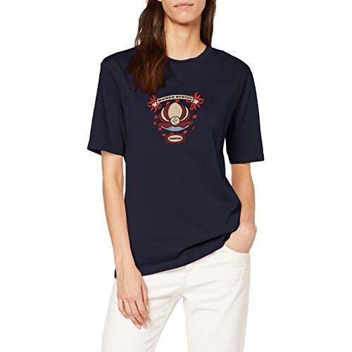 157070 Scotch & Soda T-shirt met korte mouwen voor dames met cool kunstwerk