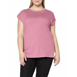 TB771-01467 Urban Classics Dames Ladies Extended Shoulder Tee T-shirt, Coolpink, S
