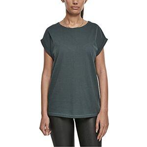 TB771 Urban Classics Dames Ladies Extended Shoulder Tee T-shirt, groen (bottle green), 5XL
