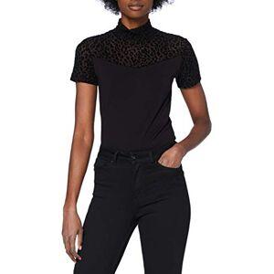 TB3752 Urban Classics Dames Ladies Flock Lace Turtleneck Tee T-shirt, zwart, M