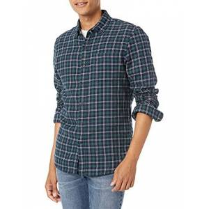 MGT25105FL18-navy green heather-X-Small Goodthreads Slim fit shirt met lange mouwen, blauw (marinegroene heather), US (EU XS)