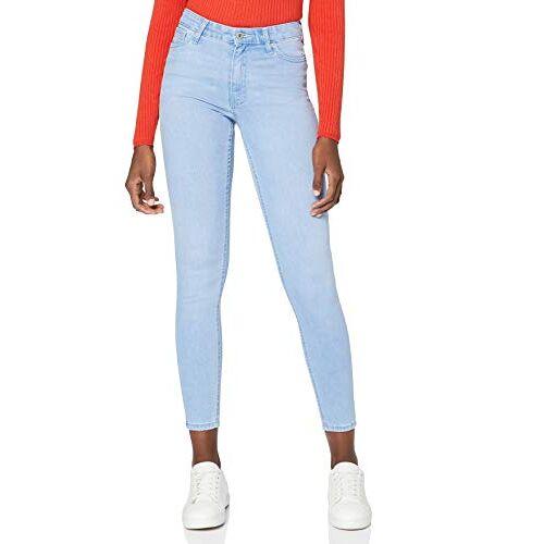 NEWSTW021-Ice Bleach find. Dames Skinny Mid Rise Jeans, Blauw Ice Bleekmiddel, 26W/30L, Label:26W/30L