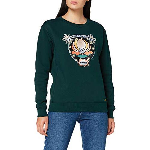 157041 Scotch & Soda Maison Sweatshirt met ronde hals voor dames, met diverse kunstwerken