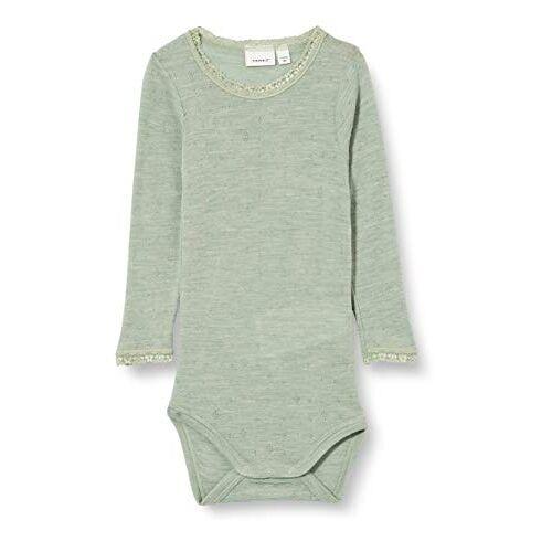 13175360 NAME IT Babymeisje Nbfwang Wool Naald Ls Noos Xx Body