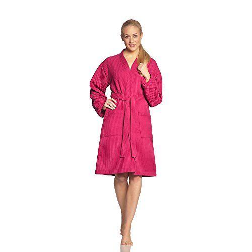 1412304446 Vossen Badjas voor dames, Rome badjas roze 44