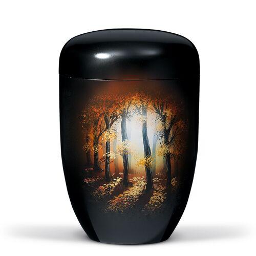 Urn met airbrush: Bomen in Bos