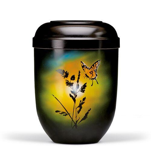 Urn met airbrush: Vlinder