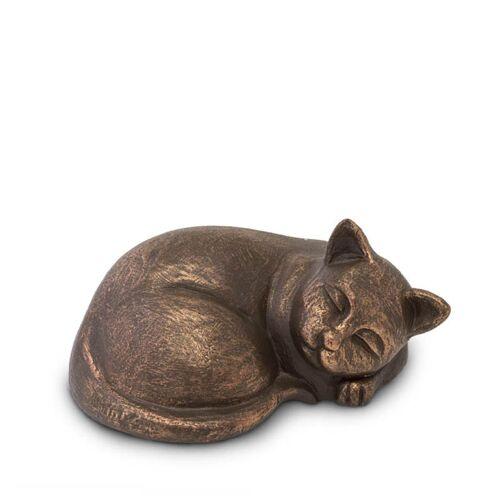 Dieren-urn van keramiek: Slapende Poes (500ml)
