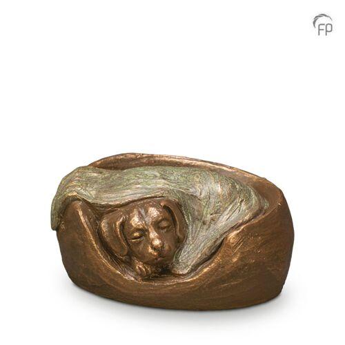 Dieren-urn van keramiek: Slapende Hond (700ml)