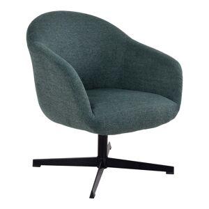 House Nordic Groene loungestoel met draaifunctie ''Sydney'' - zithoogte 40,5cm