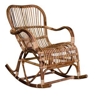 "House Nordic Bohemian schommelstoel in natural rattan ""Celta"" - L98xB63xH90 CM"