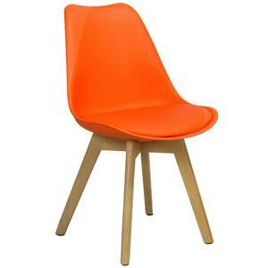 Vince Design Scandinavische Oranje Woody Stoel - H83CM / B48CM / D48CM