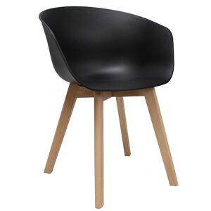 Vince Design Scandinavische Zwarte Noan Stoel - H78,5CM / B60CM / D44CM