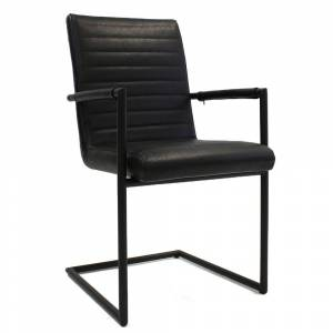 Vince Design Industriële Zwarte ''Bars'' black new PU - B54xH97 cm