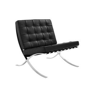 Vince Design Moderne zwarte ''Expo'' fauteuil - B75xD78xH82 cm