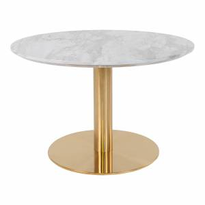 House Nordic Moderne wit/gouden ''Bolzano'' ronde koffietafel - L70xB70xH45 cmModerne wit/gouden ''Bolzano'' ronde koffietafel - L70xB70xH45 cm