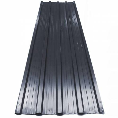 Deuba Metalen dak en wandplaten Zwart 129x45cm