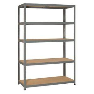ERRO Metalen Opbergrek/Stellingkast met 5 legborden - 875kg draagkracht - (HxBxD) 120x40x180cm - 175kg per plank