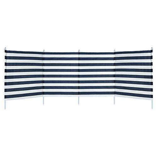52786 Actieve windbescherming, 4 panelen, blauw gestreept ().