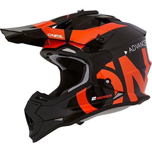 0200-S33 O'NEAL   Motorcross-helm   MX Enduro   ABS-schaal, veiligheidsstandaard ECE 2205, ventilatieopeningen voor optimale ventilatie en koeling   2SRS Helm Slick   Volwassen   Zwart/Oranje   Maat M
