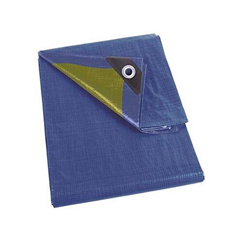 110-0304 Perel  Dekzeil, Blauw/Khaki, 3 x 4 m